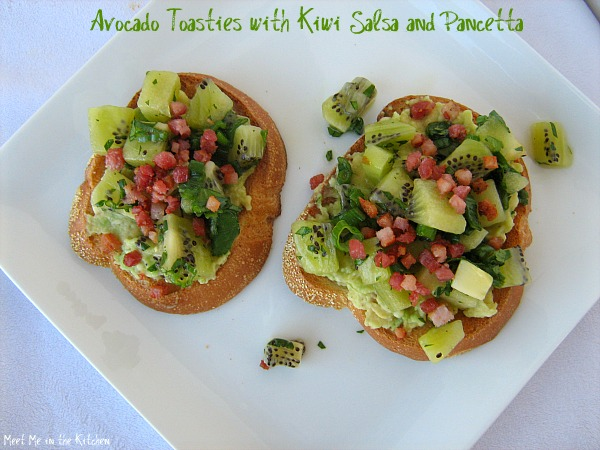 Meet Me in the Kitchen: Avocado Toasties with Kiwi Salsa and Pancetta