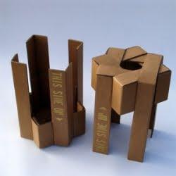 Extreme Minimalist Cardboard Box Furniture