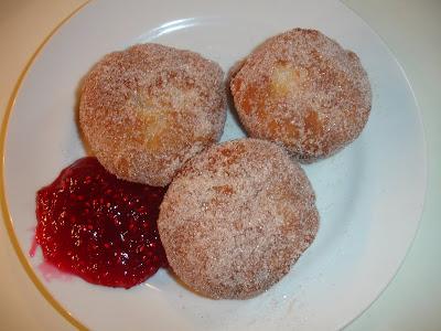 Recipe 2. Easy Honey Doughnuts with Cinnamon-Sugar and Raspberry Jam