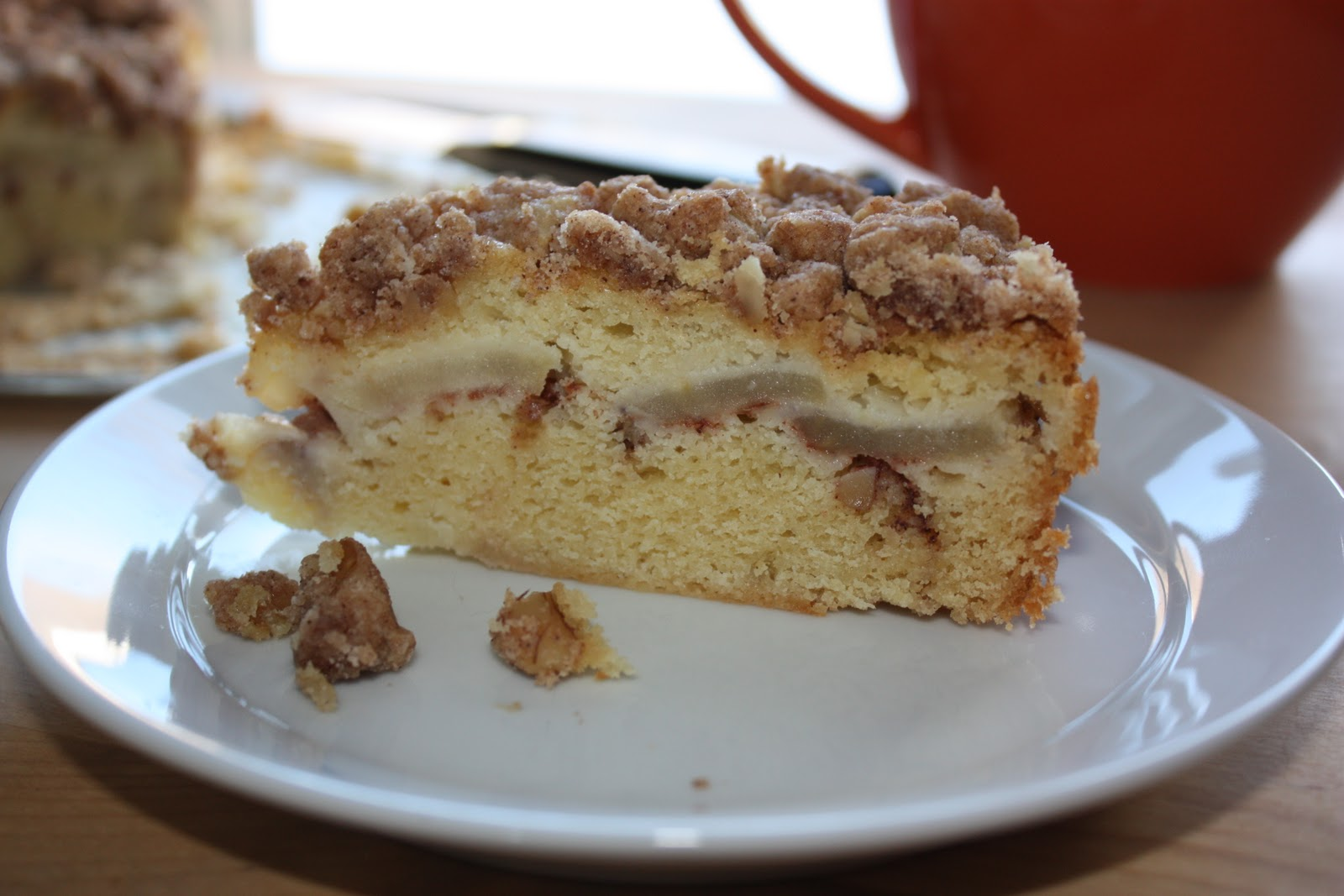 Danger Kitten Bakes: Rose's Apple Sour Cream Crumb Cake