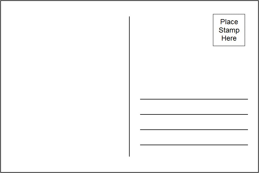 Eloquent image for printable postcards template