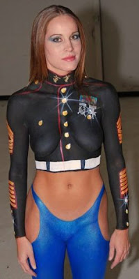 Military style Full Body Painting