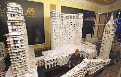 Guinness record: world's largest house of cards‎ Seen On www.coolpicturegallery.net