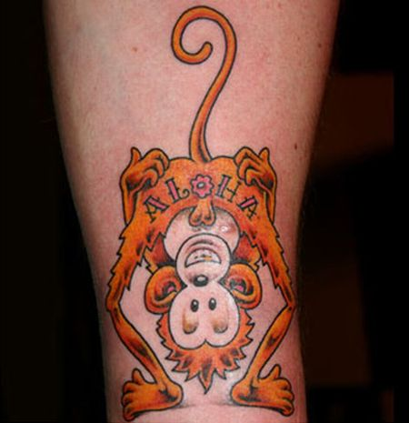 funny tattoos pictures. Funny monkey tattoos