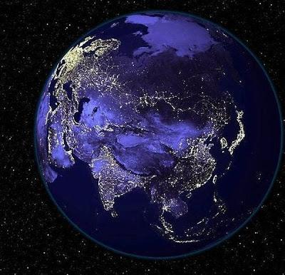 benua asia saat malam
