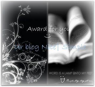 Nice & simple award from has