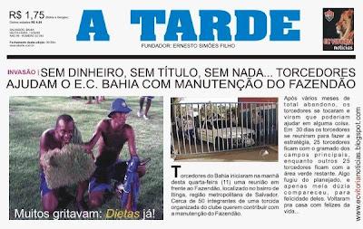 Torcida do Bahia invade o Fazendão
