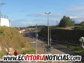 Foto: parte externa do Barradão