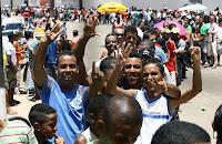 Fila de torcedores no Barradão