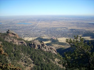 Boulder and Flatirons from Green Mountain