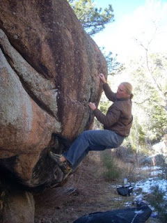 Bouldering in South St. Vrain Canyon, Colorado