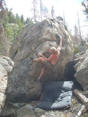 bouldering at the Empire boulders