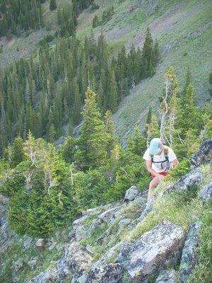 Tara on the climb to Engelman Peak