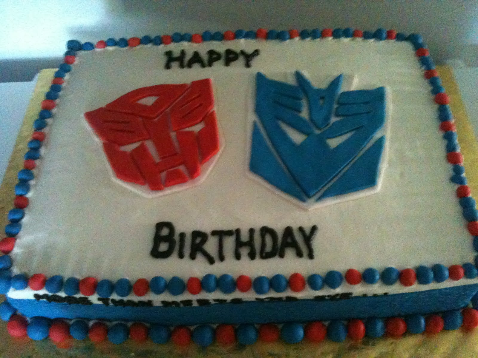 blue fairy cakes transformers cake