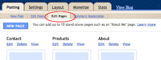 Edit Blogger Pages
