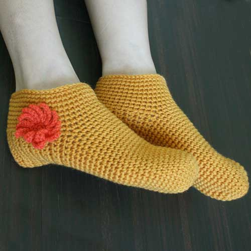 Rin Make Things Hand Knitting Bedroom Socks
