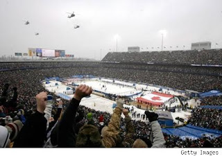 Crowd shot of Winter Classic 1-1-2008, Courtesy Getty Images