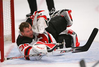 Brodeur's back (and hopefully he'll be wearing his mask).  Bruce Bennett/Getty Images