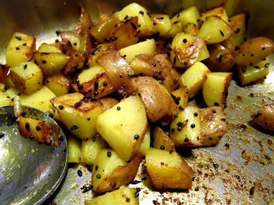 mustard potatoes done
