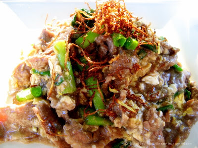 stir-fried beef with ginger and egg