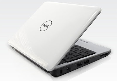 white dell netbook