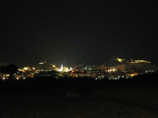 Foto de Calatayud nocturno. Contaminación lumínica