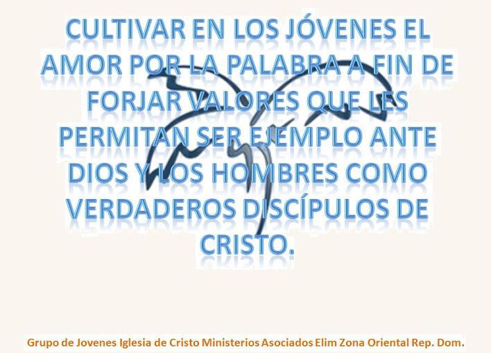 JÓVENES DE LA IGLESIA DE CRISTO MINISTERIOS ASOCIADOS ELIM. ZONA ORIENTAL