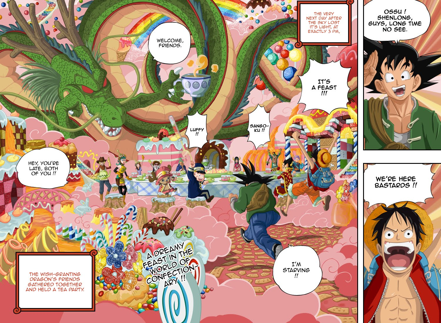 My place your place our world - Dragon ball one piece ...
