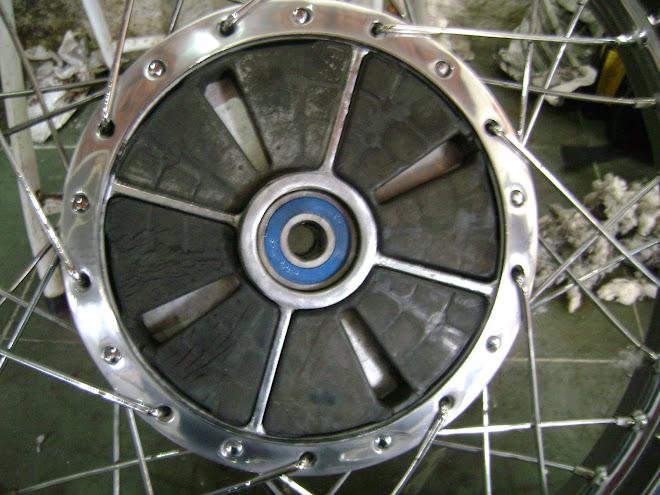 Os rolamentos das rodas