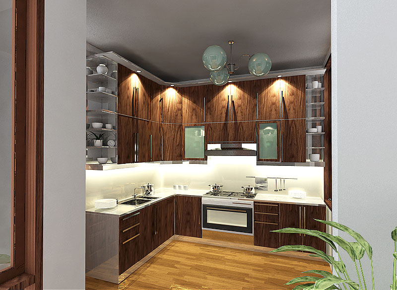 Robby Vinyl Gallery Design Kitchen Set
