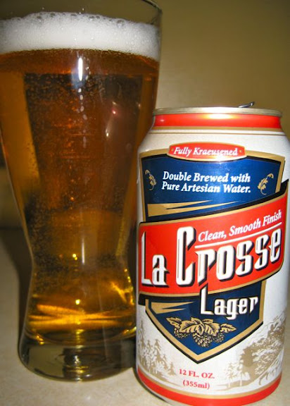 lacrosse lager in a glass