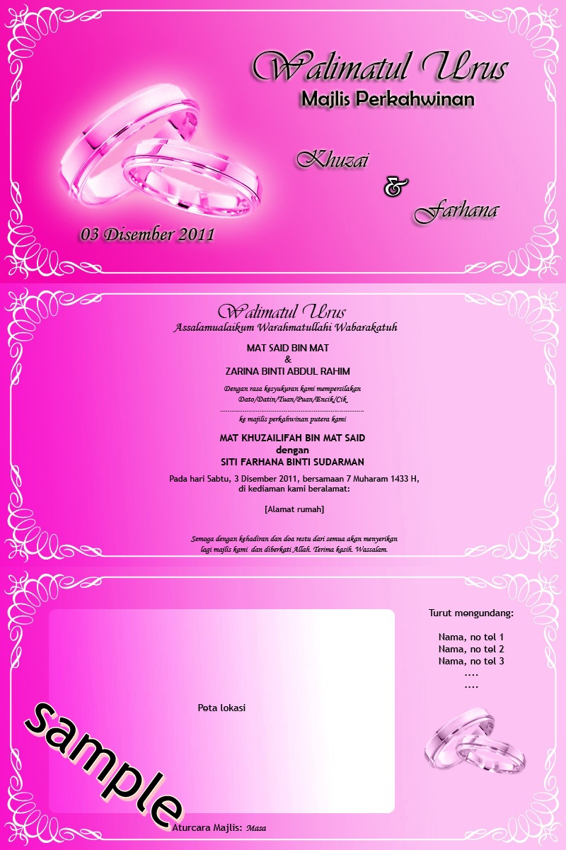 kad undangan