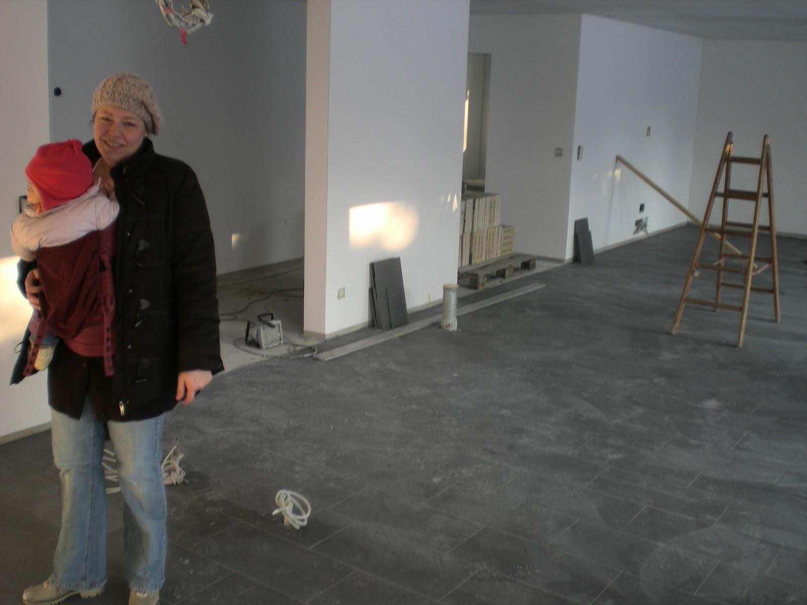 Christa & Tom\'s Baublog: Esszimmer, Küche und Wohnzimmer Böden
