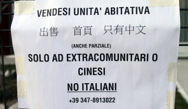 Vendo casa, solo a cinesi, astenersi italiani e perditempo. E' successo davvero.