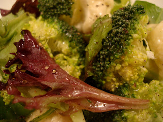 Up close of Salad and Vegetables