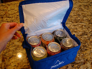 Lunchbag filled with Zevia Drinks