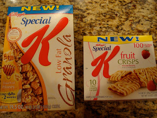 Special K Low Fat Granola Cereal and Fruit Crisp bars