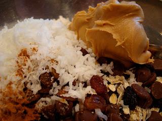Peanut Butter, Coconut, Vanilla Protein Powder, & Raisins added to ingredients