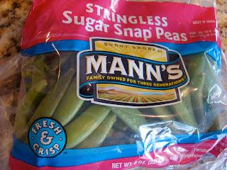 Stringless Sugar Snap Peas in bag