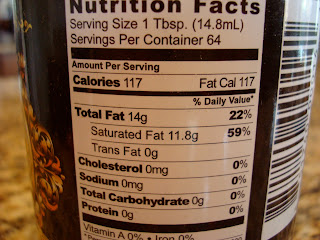 Nutritional information of Tropical Traditions Coconut Oil