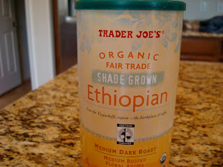 Trader Joe's Organic Fair Trade Coffee in container