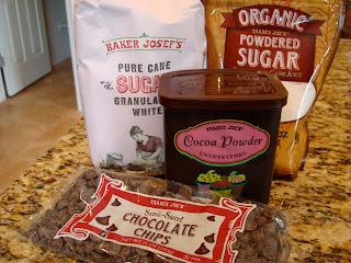 Various baking supplies on countertop