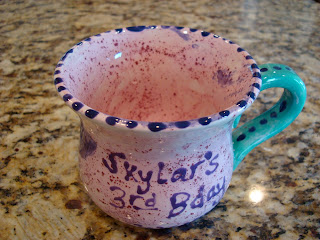 Finished mug after firing