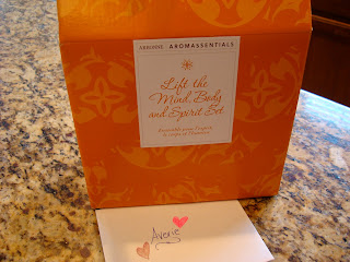 Arbonne Aromassentials box with card
