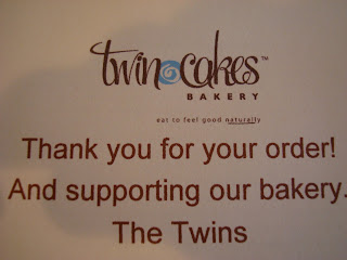 Twin Cakes Bakery Thank You Card