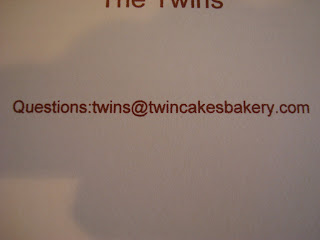 Twin Cakes Bakery email address