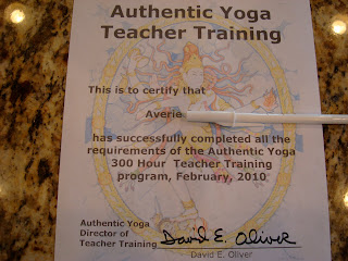 Authentic Yoga Teacher Training Certificate