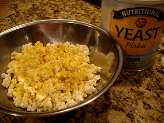 Nutritional Yeast Popcorn in bowl