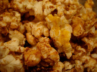 Close up of Nutritional Yeast Popcorn
