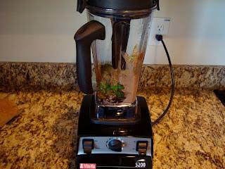 Raw Vegan Chocolate Mousse ingredients in blender